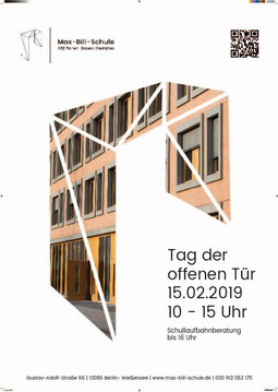 Plakat zum Tag der offenen Tür