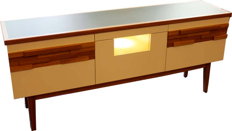 Sideboard in MDF/ Eiche