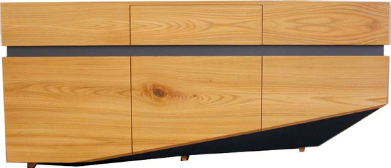 Sideboard in Rüster/ Linoleum