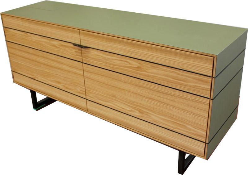 Sideboard in Esche/ Linoleum