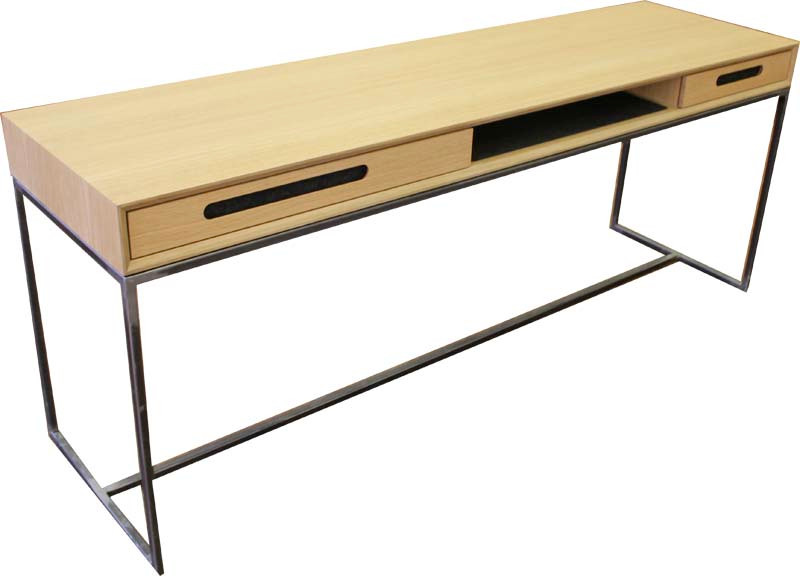 Schreibtisch in Eiche/Stahl