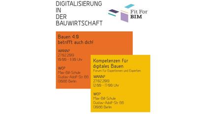 Veranstaltung: Digitalisierung in der Bauwirtschaft – BIM