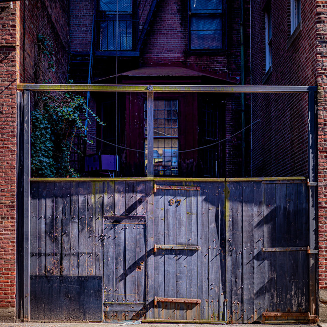 This nutso door in an alley in the Back Bay reminds me of a scene from a Kurosawa movie.