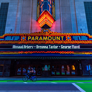 It was moving to see the Paramount Theatre use its billboard to honor George Floyd, Breonna Taylor, and Ahmaud Arbery. A lot more to do.