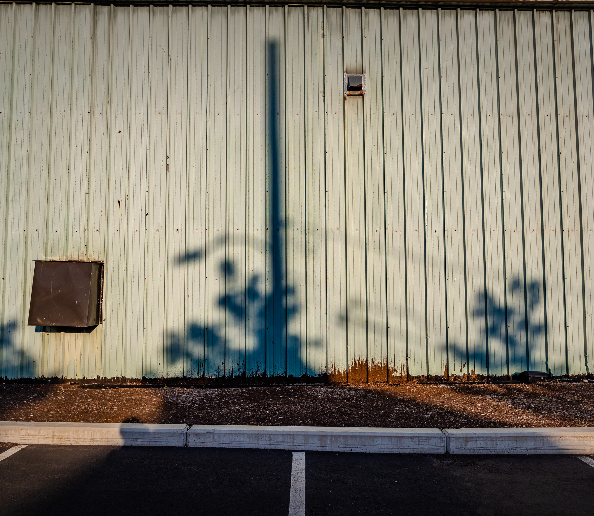 Late afternoon shadows.