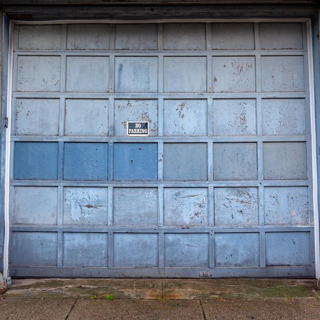 Freaking huge garage door.