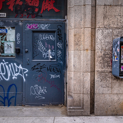 Chinatown - so much graffiti and old pay phones.
