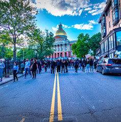 A protest at the State House in Beacon Hill in Boston. I was there early, before the crowds arrived from Nubian Square.
