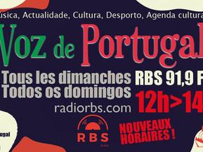 Emission radio Voz de Portugal sur RBS 91.9Fm de 12h à 14h
