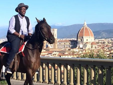 Hip-hop horseman: Fab 5 Freddy gallops through Renaissance art
