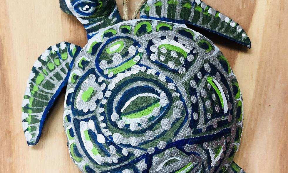 Hand Painted Sea Turtle Ornament