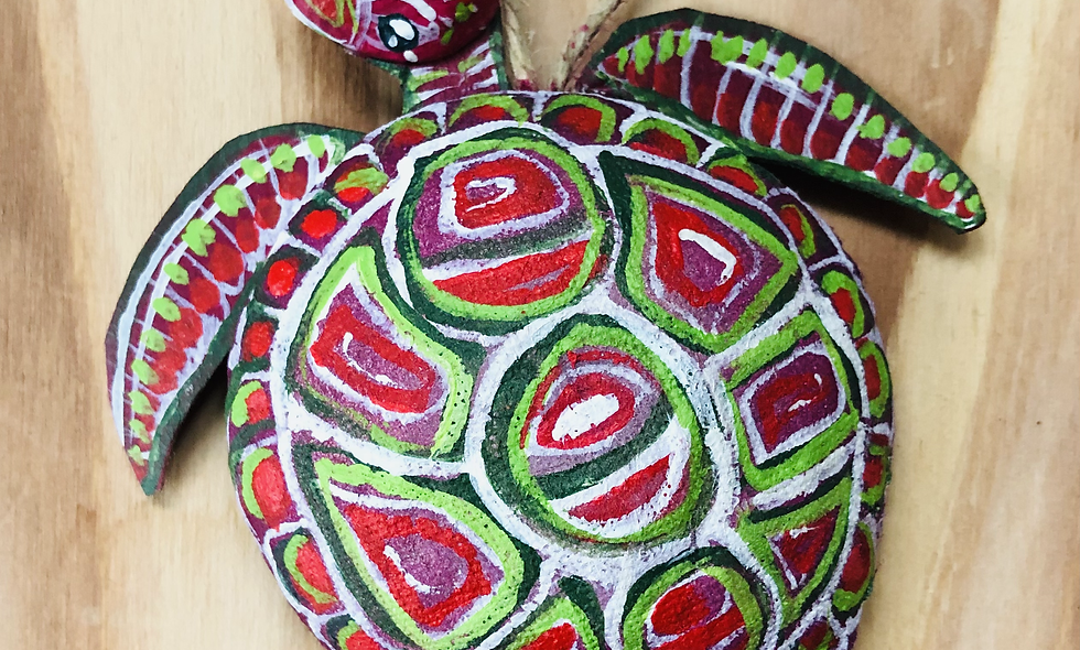Hand Painted Sea Turtle Ornament
