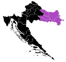 Croatian Wine Map - Slavonia