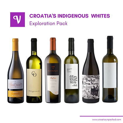 Mixed case of Croatian white wine.  Home delivery in Ontario, Canada