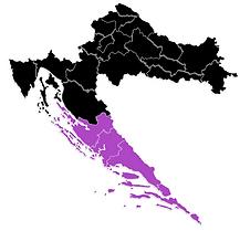 Croatian Wine Map - Dalmatia