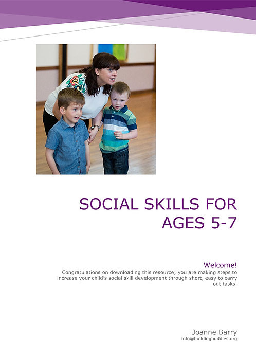 Social Skills Curriculum 1 Ages 5-7