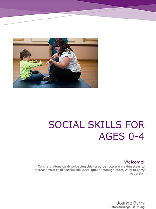 Social Skills Curriculum 1 Age 0-4
