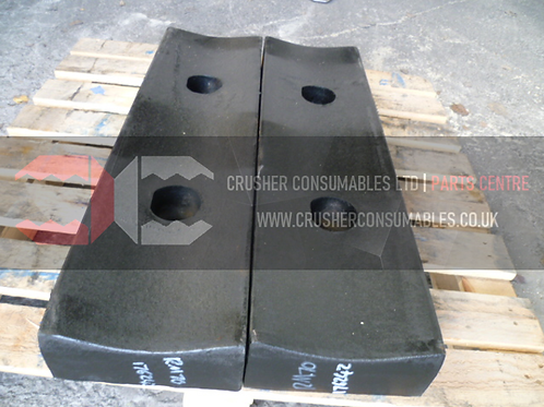 176242 Impact plate - plain (front bolted)   Rubblemaster RM70/RM70GO