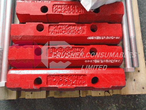 10-314-246-000 Clamping bar | SANDVIK JM1208