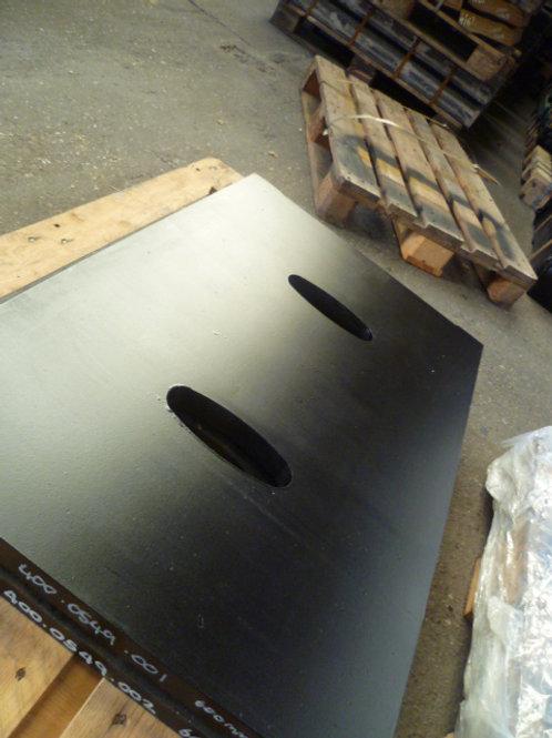 400.0549-001 TOGGLE PLATE - 600MM HARDOX | FINTEC 1107 / SANDVIK CJ211 / QJ330