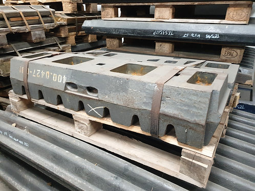 400.0427-00 FIXED JAW PLATE MIDDLE HD 14% MN   SANDVIK / EXTEC JM1211