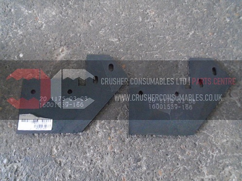 20.1175.03.08 magnet skirting rubber   TEREX FINLAY J-1160