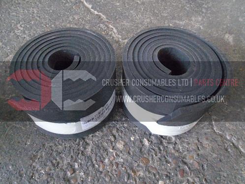 20.1310.03.06 Lower skirting rubber   TEREX FINLAY J-1160