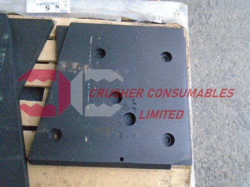 J1240000 UPPER CHEEK PLATE LH HARDOX   EXTEC / SANDVIK PITBULL MK2