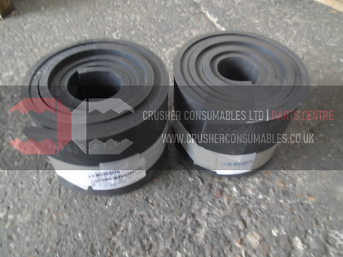 20.1310.03.05 Front skirt rubber   TEREX FINLAY J-1160