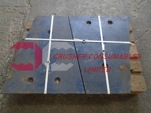 31.10.0870 LOWER CHEEK PLATE FOR 2 LINER MACHINE 14% MN | TEREX FINLAY J-1175