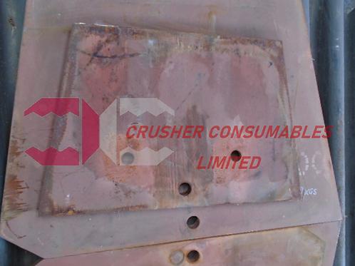 CR024-003-007 MIDDLE CHEEK PLATE HARDOX | TEREX FINLAY J-1175