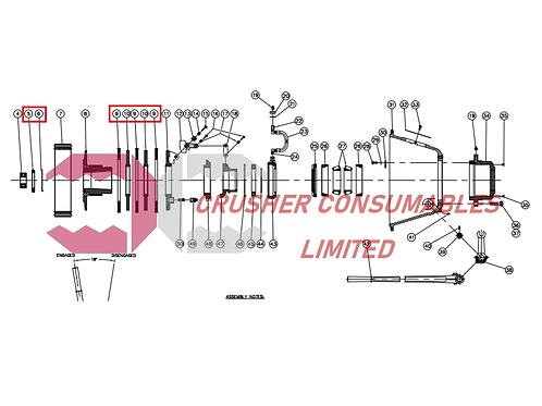 2451-9010 Clutch repair kit   900x600   Terex Pegson / Powerscreen