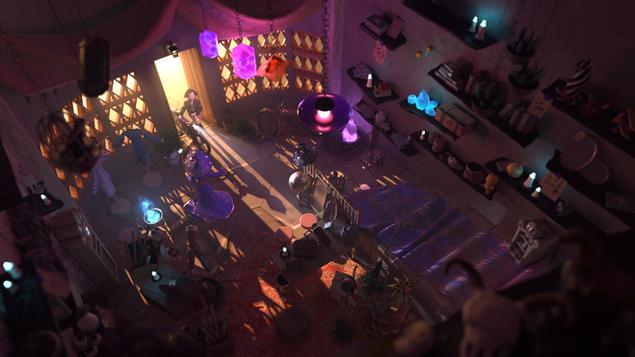 Pixar Lighting Challenge - Magic Shop
