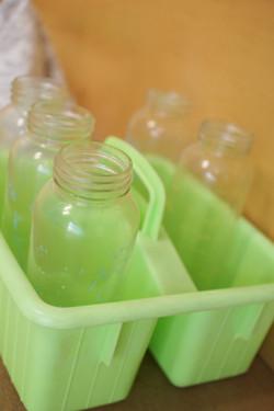 Bottles in a caddy