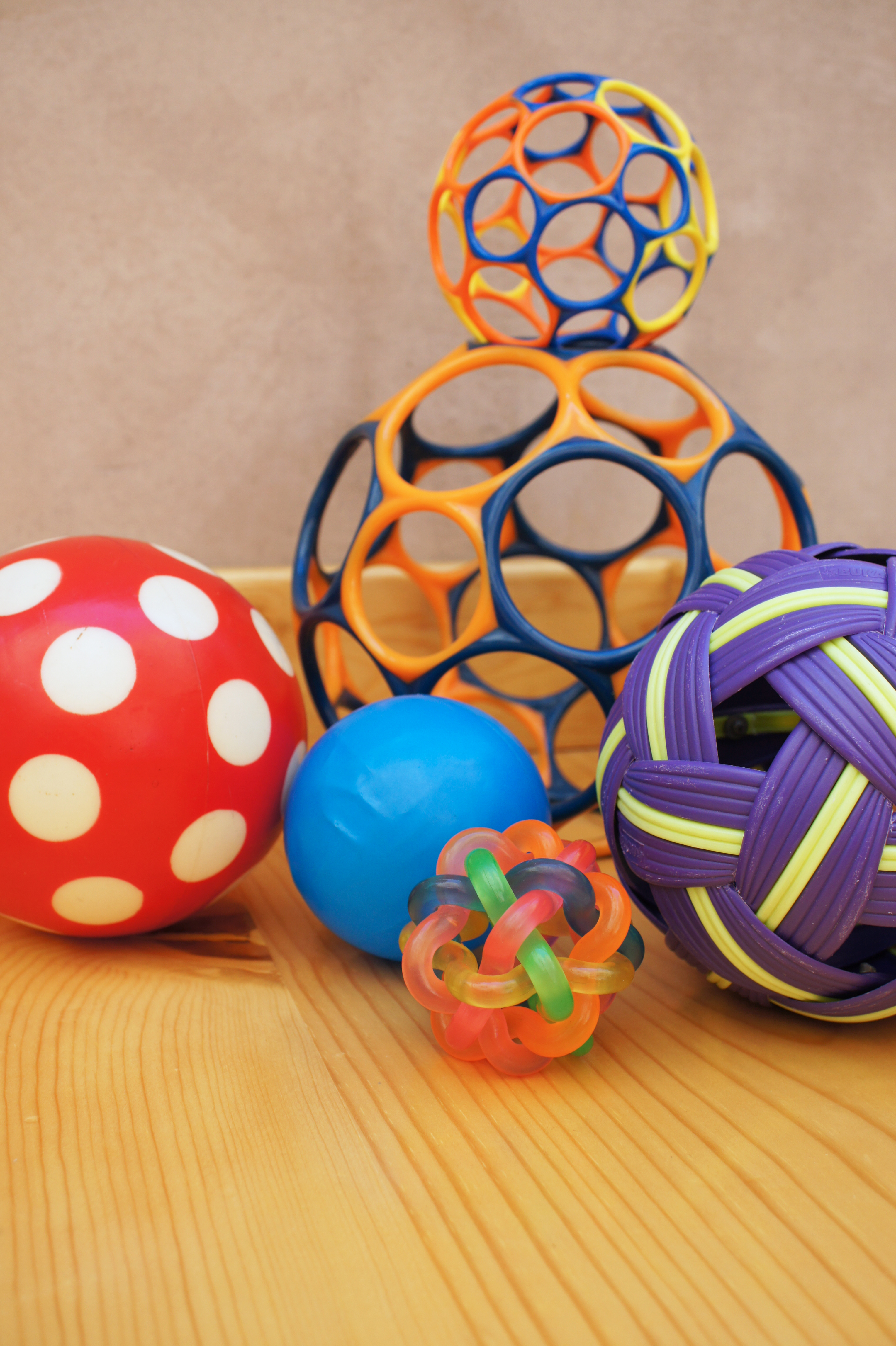 An assortment of balls