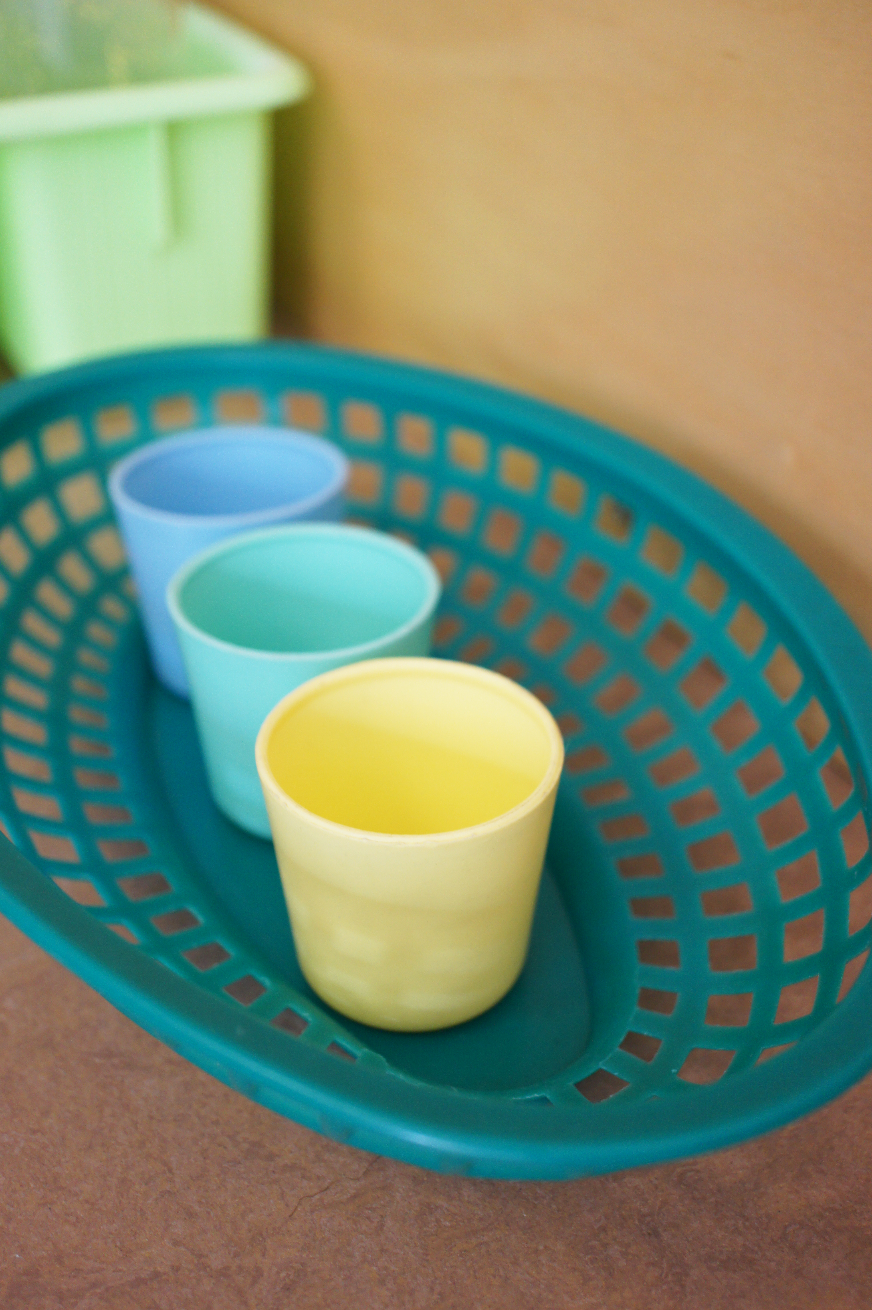 little plastic cups