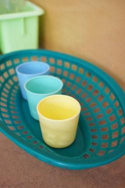 little plastic cups
