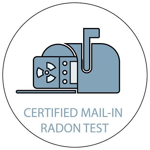 Certified Mail-In Radon Test