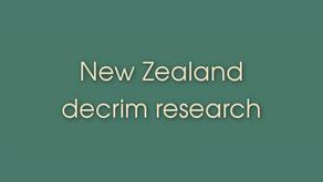 Link Resources - New Zealand decrim research