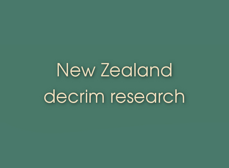 Link Resources - New Zealand decrim research