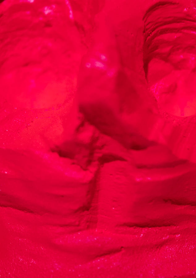 painted cast close up