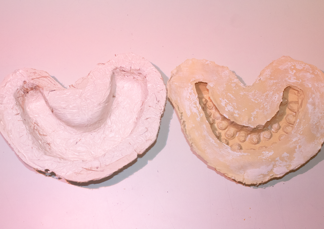 latex and plaster mold inside