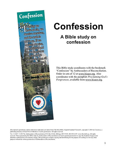 Confession - Reproducible Bible Study