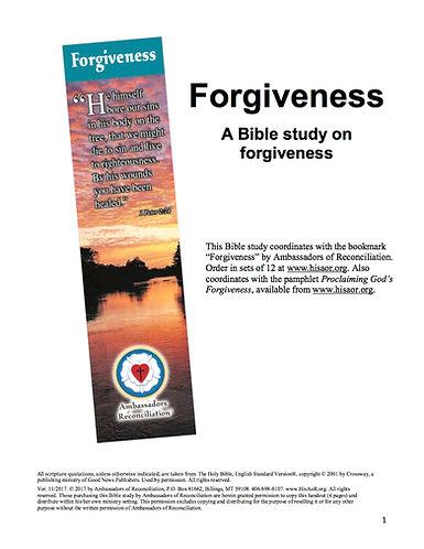 Forgiveness - Reproducible Bible Study