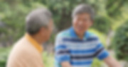 Asian Male old friends talking together