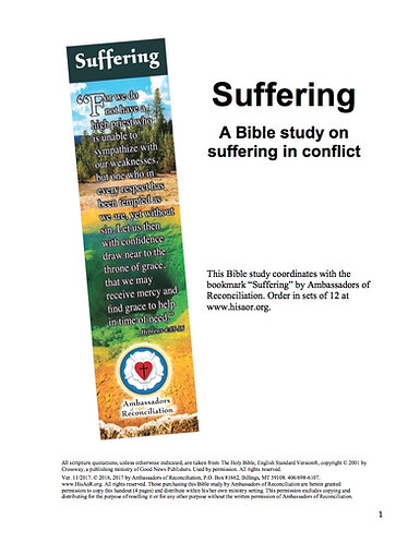 Suffering - Reproducible Bible Study