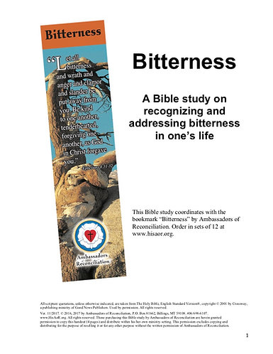 Bitterness - Reproducible Bible Study