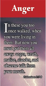 Anger Bookmarks - Set of 12