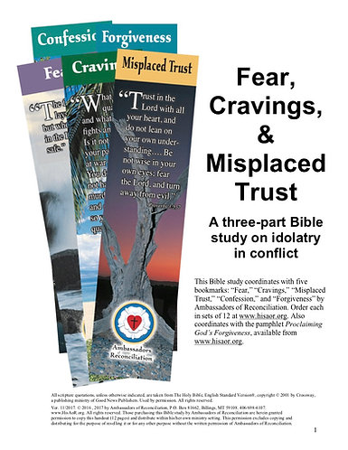 Fear, Cravings & Misplaced Trust - Reproducible Bible Study