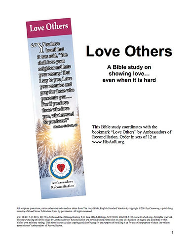 Love Others - Reproducible Bible Study